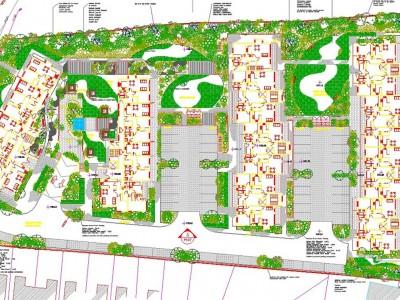 apartment landscape design. Apartment Development A Landscape Design E